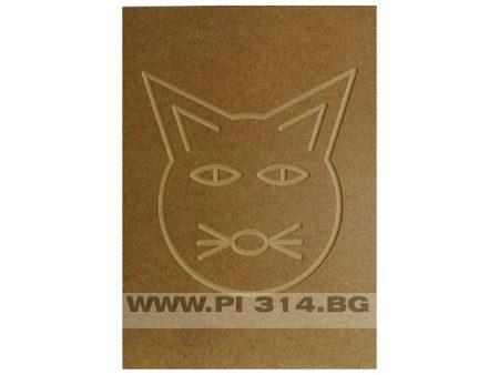 Фрезована вратичка от МДФ с детски мотив коте