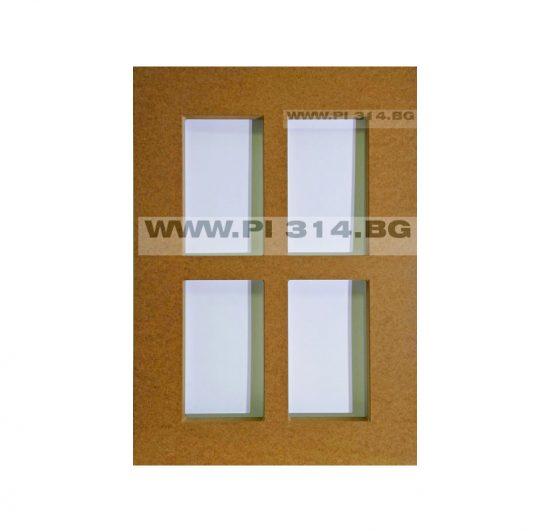 Мебелна вратичка с прозорец,фрезована вратичка от МДФ