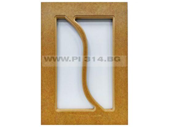 Мебелна вратичка с прозорец